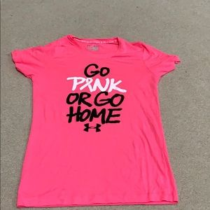 Under Armour breast cancer shirt